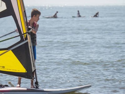 Windsurf rental for beginners at Canela Island