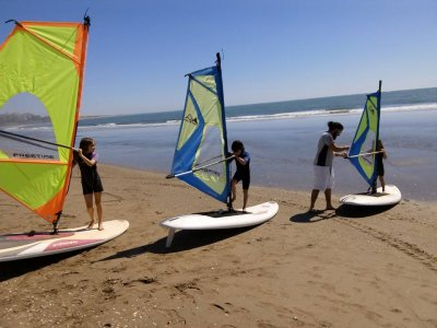Windsurf tuition for beginners at Canela Island