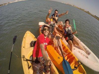 Descending Guadiana on kayak in Isla Canela