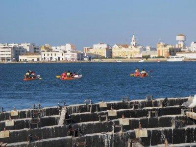Kayak tour around Carreras river Isla Cristina 2 h