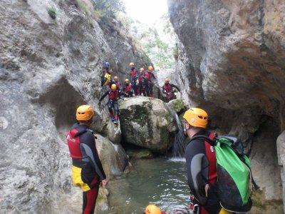 Canyon descent of the Foradada, initiatory