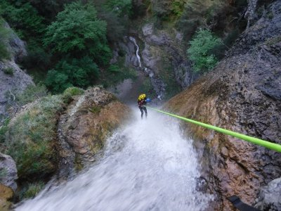 Canyoning for experts on Sant Anihol ravine