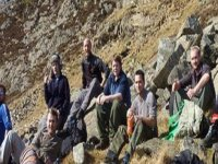 Group hiking excursion