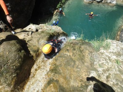 Canyoning descent beginners La Canaleta