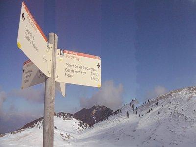 Hiking Route on Gallina Pelada Peak