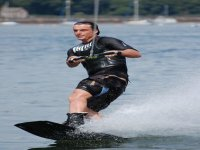 Wakeboarding is similar to snowboarding