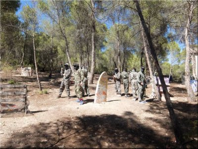 Team building paintball Madrid 1h