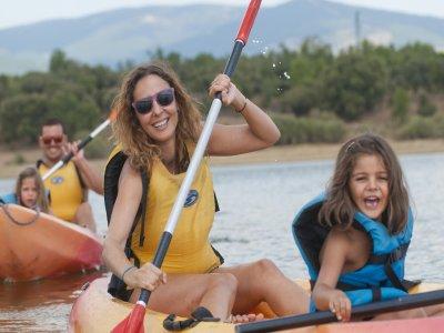Canoe Trip in Calm Waters Near Madrid
