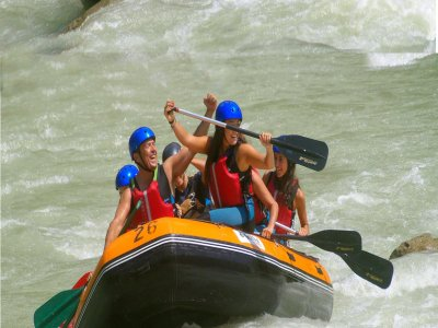 Canoe-rafting route Gállego river