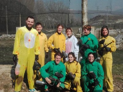 Paintball in Jaca for bachelor parties 200 balls