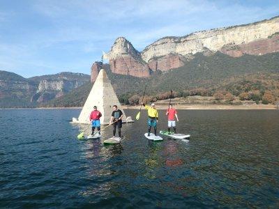 Paddle surf excursion Sau reservoir, 2h
