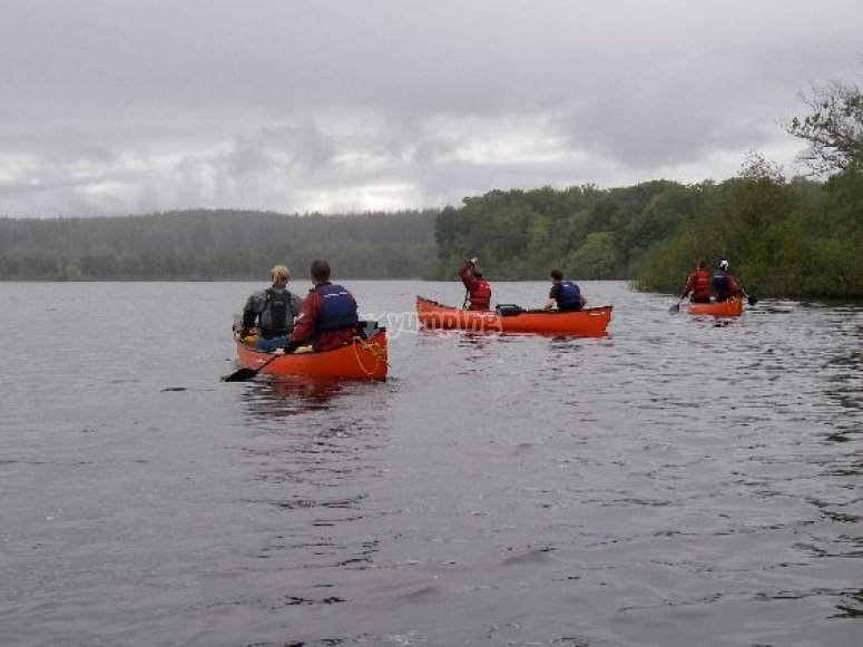 Lake canoeing