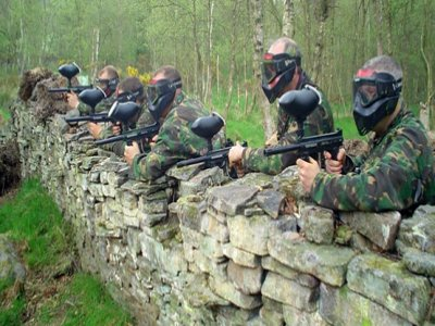 Paintball in León, hotel, transport + lunch