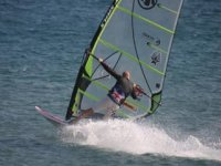 Exchilarating windsurfing