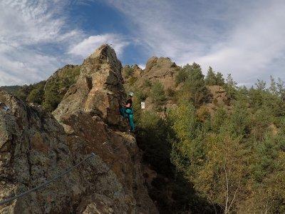 Via Ferrata Roca de la Creu in Ribes de Freser