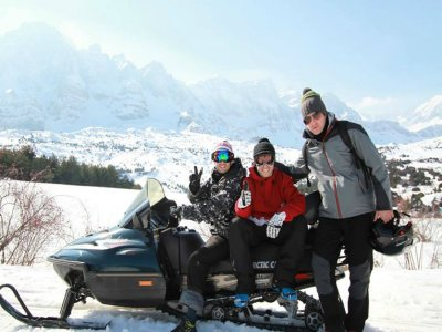 Snow bike route in Huesca, 1 hour