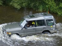 Fording a river