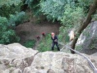 Abseiling is great fun.