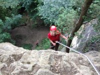 Abseiling is a mental challenge.