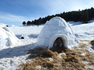 Snowshoeing at Vallter + igloo building
