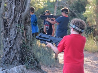 Laser combat outdoor game at Jaca 1h