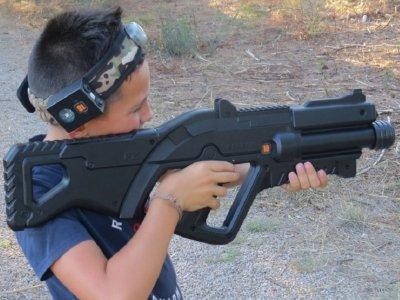 Laser combat outdoor game at Jaca, 90 min