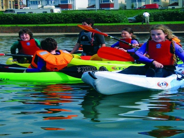 Kayaking at Lagoon Watersports