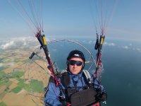 Paramotor flying