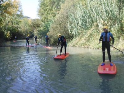 Paddle surfing route at Tolosa reservoir, 2h