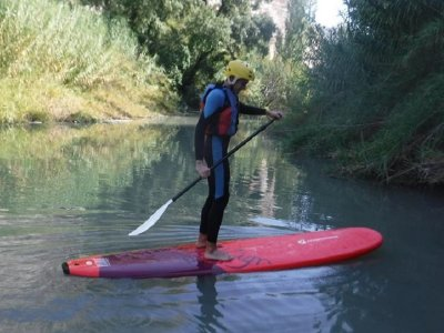 Paddle surfing route kids Tolosa reservoir, 2h