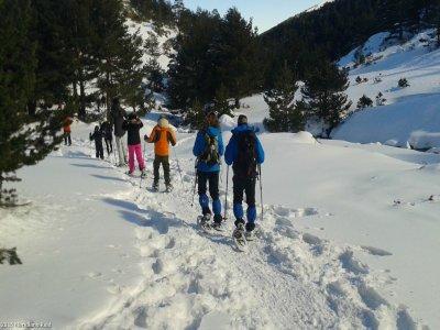 2h30m Snow Rackets Route in Puerto de Cotos