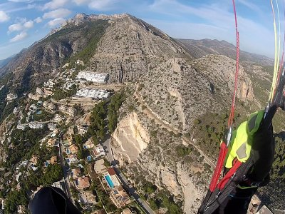 High Mountain Paraglide Flight Near Madrid