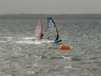 Perfect windsurfing conditions