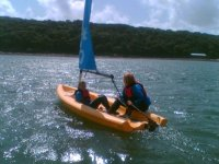 Our dinghies can hold up to 2 people