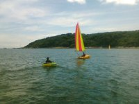Sailing dinghy boats