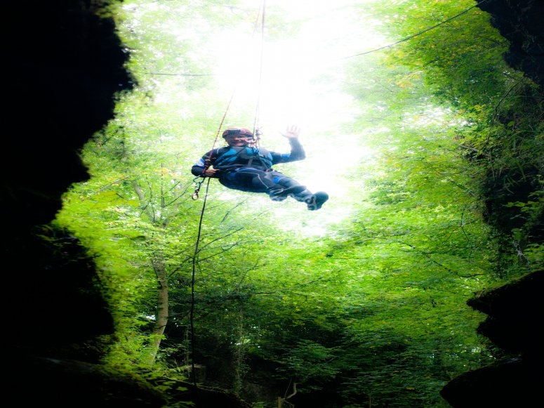Adventure abseiling