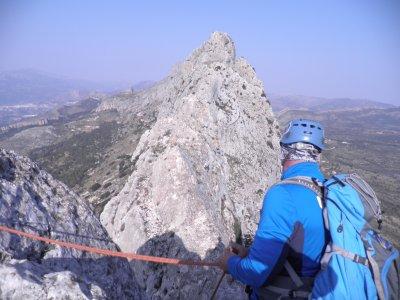 Climbing the Cresta de Bernia in Valencia