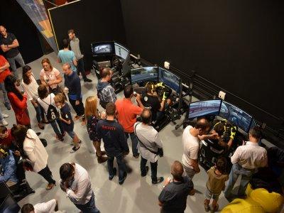 Team building in Las Rozas racing simulator