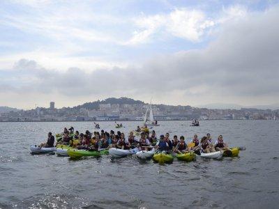 Individual kayak rental in Moañas, 1h.