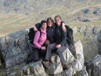 Family hiking excursion
