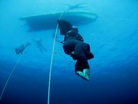 Free diving to depth