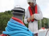Preparing for the sail