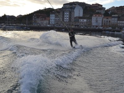 Water Ski Session in Moaña, 25m