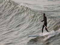 Learn how to surf on a paddleboard.