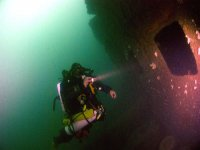There are many sunken shipwrecks to explore