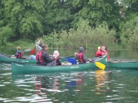 Canoeing tuition for kids