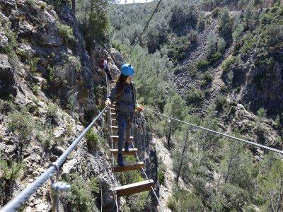 Via Ferrata de Enguera with zip line 70 meters