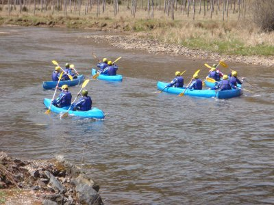 Canoeing in the Sil, from Requejo to Carril