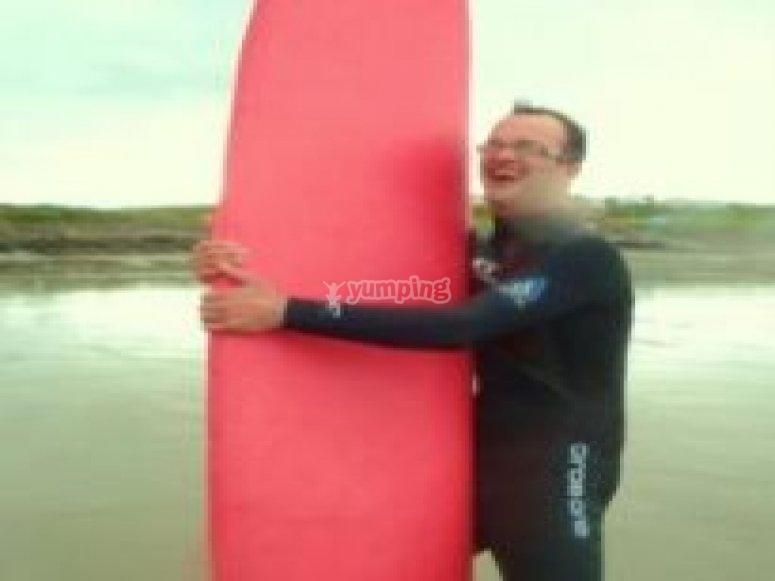 We love surfing