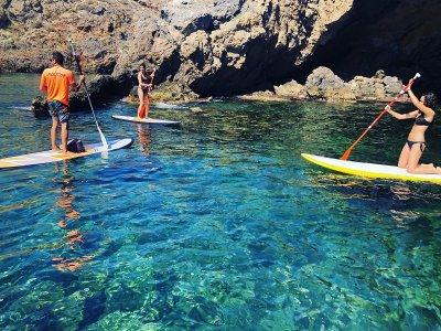 7-Kilometers Paddle Surf Tour up to Leño Cove
